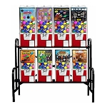 VendPro 20/25 8 Unit 2-inch Toy Capsule, Chicken Egg & Bounce Ball Vending Machine Rack